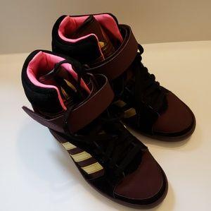 ADIDAS Womens High Top Wedge Heel Sneakers
